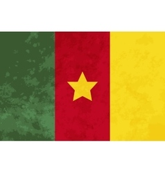 True proportions cameroon flag with texture vector