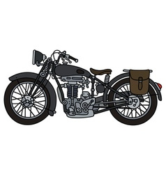 Vintage dark motorcycle vector image