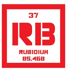 Rubidium chemical element vector