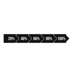 Percentage arrow infographic icon simple style vector