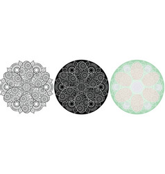 Circle ornament with easter eggs ethnic mandala vector