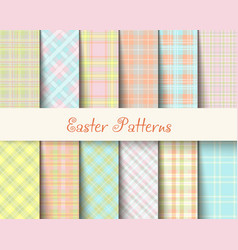 easter tartan patterns vector image