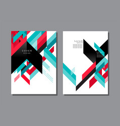 Cover layout design pattern and background vector