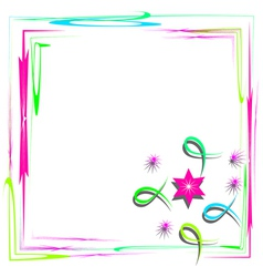 Bright frame with abstract design vector