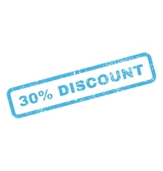 30 percent discount text rubber stamp vector