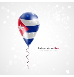 Flag of cuba on balloon vector