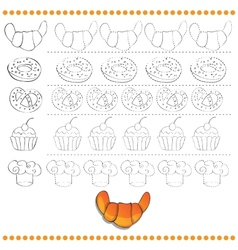 Connect the dots number of images - exercise for vector