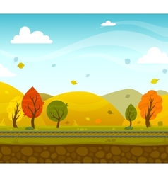 Game 2d park landscape vector