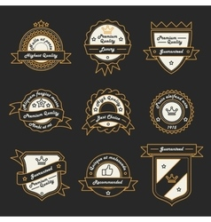 Set of Monochrome Label Logo and Badge vector image