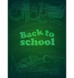 Back to school2 vector image