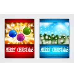 Flyer templates with holiday backgrounds vector