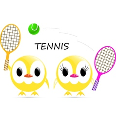 Chick tennis vector