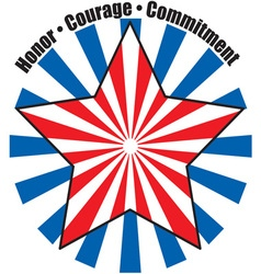 Honor courage commitment vector