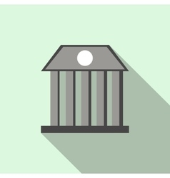 Bank building icon flat style vector