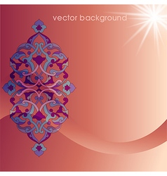 Decorative cover template ninety vector