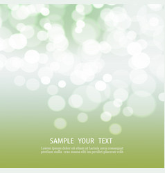 Abstract bokeh background with space for text vector