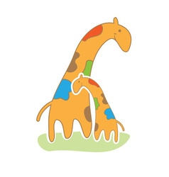 Baby giraffe in cute style vector