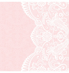 Background with white lace pattern vector