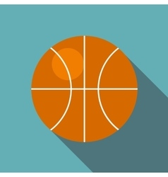 Basketball ball icon flat style vector image vector image