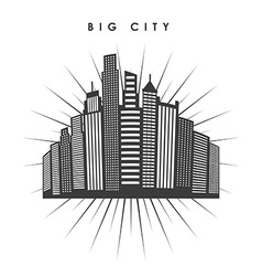 Big city design vector