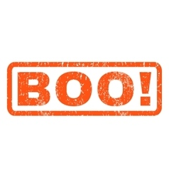 Boo rubber stamp vector