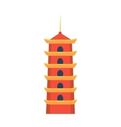 Classic chinese tower in hong kong simplified icon vector