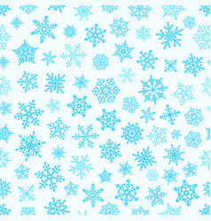 different snowflake elements seamless pattern vector image vector image