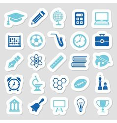 Education stickers vector