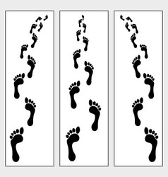 footsteps vector image