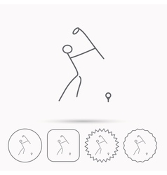Golf club icon Golfing sport sign vector image vector image