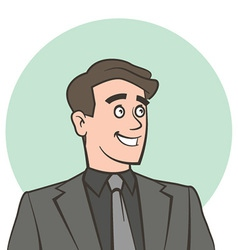 Happy smiling businessman looking away vector