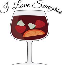 Love sangria vector
