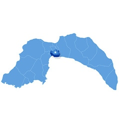 Map of antalya - muratpasa is pulled out vector