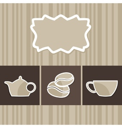 menu with a coffee cup vector image