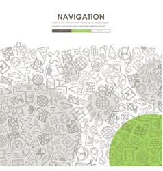 Navigation doodle website template design vector