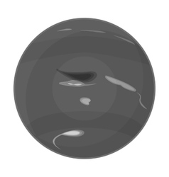 Neptune icon in monochrome style isolated on white vector