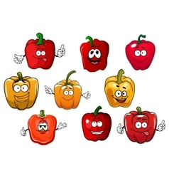 Orange and red bell pepper vegetables vector image