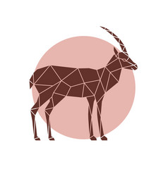 polygonal of a antelope geometric wild animal vector image vector image