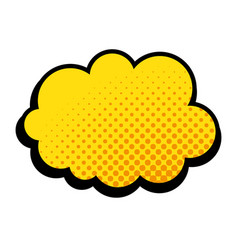 Pop art cloud icon vector