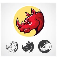 Rhinoceros Head Symbol vector image