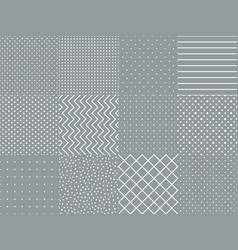 set collection with simple geometrical pattern vector image