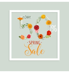 Spring sale banner sale background big sale vector