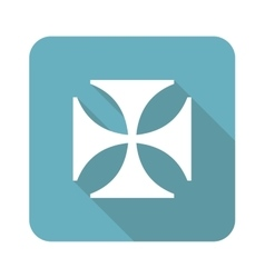 Square maltese cross icon vector