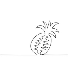 stylized drawing of pineapple vector image vector image