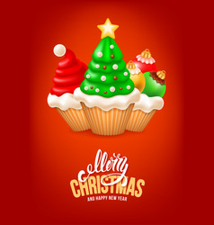 Sweet christmas and happy new year vector
