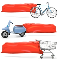 Transport with Banner vector image vector image