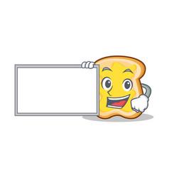 with board slice bread cartoon character vector image vector image