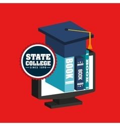State college emblem education vector