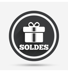 Soldes - sale in french sign icon gift vector
