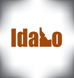 Idaho state graphic vector